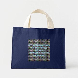 Fox Pop Teacher Gift Mini Tote Bag