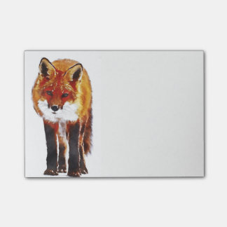fox post it notes, foxy notepad, fox cub post-it notes