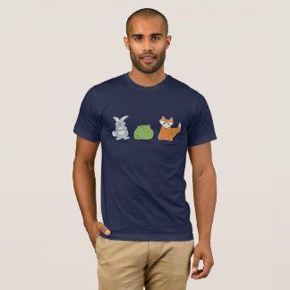 Fox Rabbit Cabbage Men's Dark Tee