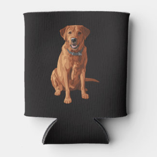 Fox Red Yellow Labrador Retriever Dog Can Cooler