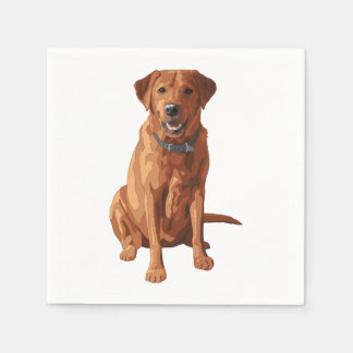 Fox Red Yellow Labrador Retriever Dog Disposable Napkins