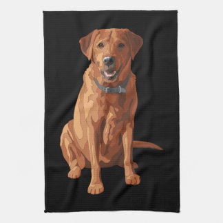 Fox Red Yellow Labrador Retriever Dog Kitchen Towel