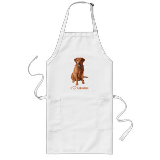 Fox Red Yellow Labrador Retriever Dog Long Apron