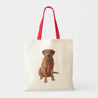 Fox Red Yellow Labrador Retriever Dog Tote Bag