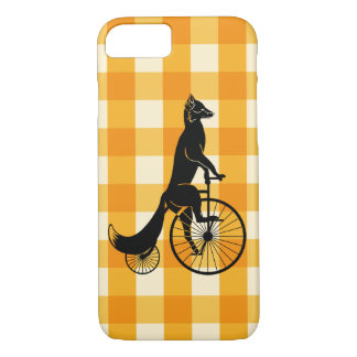 Fox Riding a Penny Farthing Bike iPhone 8/7 Case