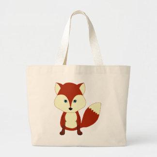 Fox rouge mignon sac de toile
