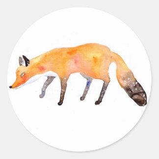 fox round sticker