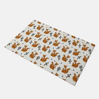 Fox / Rust Cream Brown Neutral / Andrea Lauren Doormat