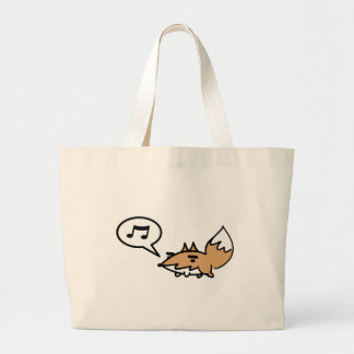 Fox siffleur sac en toile jumbo