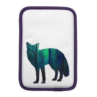 Fox silhouette - forest fox - fox art - wildfox iPad mini sleeve