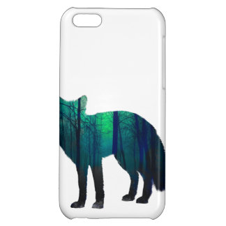 Fox silhouette - forest fox - fox art - wildfox iPhone 5C covers