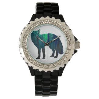 Fox silhouette - forest fox - fox art - wildfox watch