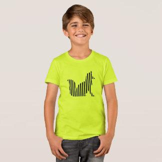 Fox silhouette on stripes T-Shirt