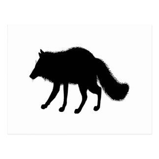Fox Silhouette Postcard