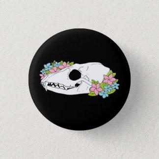 Fox Skull Button Badge