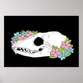 Fox Skull Poster