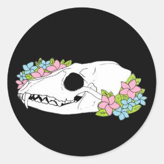 Fox Skull Sticker