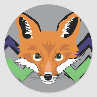 Fox Stamps Classic Round Sticker