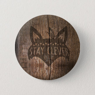 Fox, Stay Clever Little Fox 2 Inch Round Button
