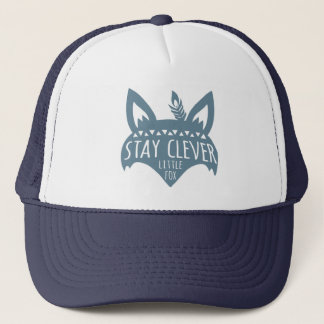 Fox, Stay Clever Little Fox, Blue Trucker Hat