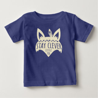 Fox, Stay Clever Little Fox, Pale Yellow Baby T-Shirt