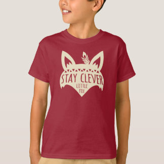 Fox, Stay Clever Little Fox, Pale Yellow T-Shirt