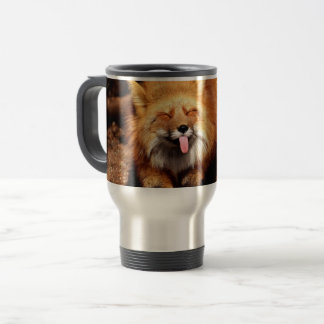 Fox Sticking It's Tongue Out Travel Mug