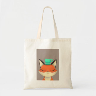 Fox Tea Party Tote Bag