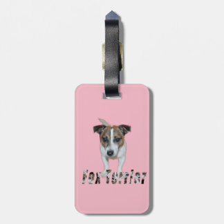 Fox Terrier And Fox Terrier Logo, Pink Luggage Tag