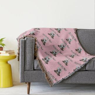 Fox Terrier And Fox Terrier Logo, Pink Throw Blanket