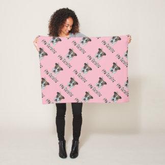 Fox Terrier And Fox Terrier Logo, Small Fleece Blanket