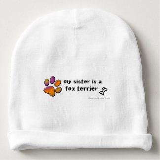 fox terrier baby beanie