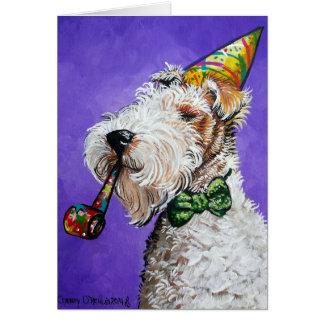 Fox Terrier Birthday Card