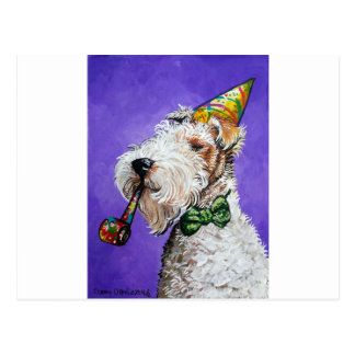 Fox Terrier Birthday Postcard