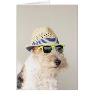 Fox Terrier Card