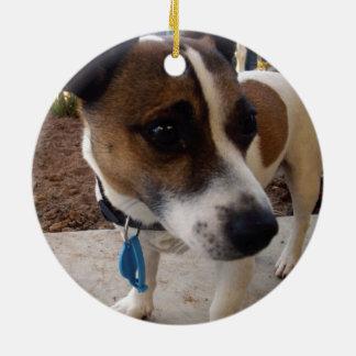 Fox_Terrier,_ Ceramic Ornament