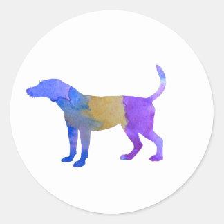 Fox Terrier Classic Round Sticker