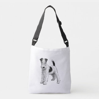 Fox Terrier Design Bag, Double Sided Crossbody Bag