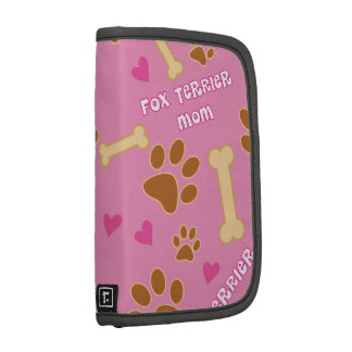Fox Terrier Dog Breed Mom Gift Idea Planners