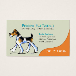 Fox Terrier Dog Breeder Puppy Business Business Card