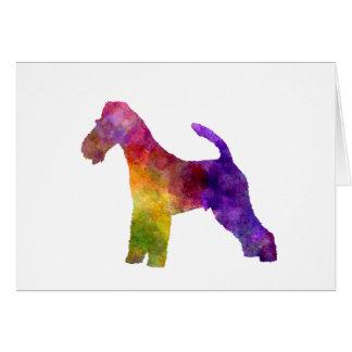 Fox Terrier in watercolor Card