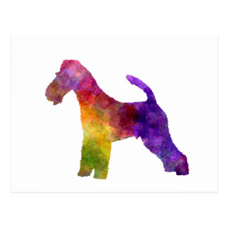 Fox Terrier in watercolor Postcard