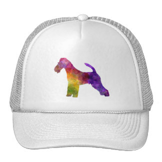 Fox Terrier in watercolor Trucker Hat