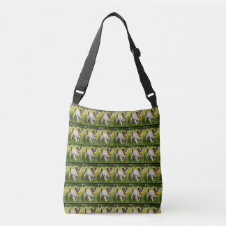 Fox Terrier Pattern, Crossbody Shoulder Bag