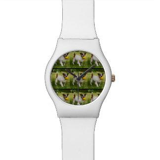 Fox Terrier Pattern, Ladies White May Watch. Watch