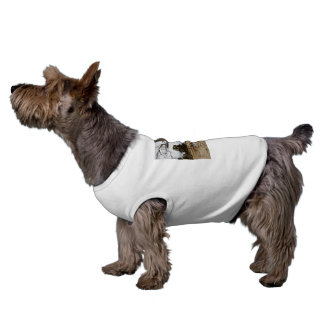 Fox_Terrier_Play_Time White Ribbed Pet Coat Dog Clothes