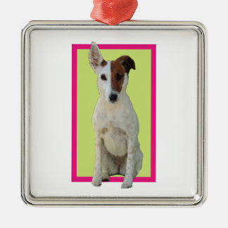Fox Terrier Smooth dog cute photo hanging ornament
