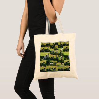 Fox Terrier The Long Hard Day Photo Collage, Tote Bag