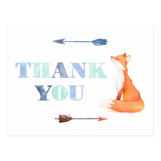 fox thank you card, economy thank you card