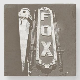 Fox Theatre, Atlanta Coasters, B/W Stone Beverage Coaster